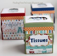 covers for square tissue boxes--good beginning-of-the-year teacher gift