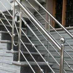 Imperio Railing Systems - Offering Bar Stainless Steel Hand Railings at Rs in Mumbai, Maharashtra. Steel Grill Design, Steel Railing Design, Staircase Railing Design, Staircase Handrail, Balcony Railing Design, Hand Railing, Glass Railing, Stainless Steel Stair Railing, Stainless Steel Handrail
