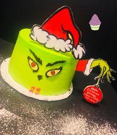 Grinchmas Birthday Cake Birthday Cake, Cakes, Desserts, Birthday Cakes, Deserts, Pastries, Dessert, Torte, Postres