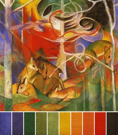 deer-in-the-forest franz marc palette.png (570×650)