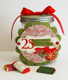 Christmas Candy Countdown Advent Calendar by Jen Gallacher.
