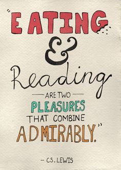 Eating and reading combine perfectly. Via @paulazurdaarigo. #reading #quotes