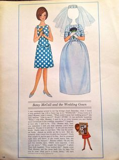 Betsy McCall Mag Paper Doll Betsy McCall and The Wedding Gown June 1964 | eBay