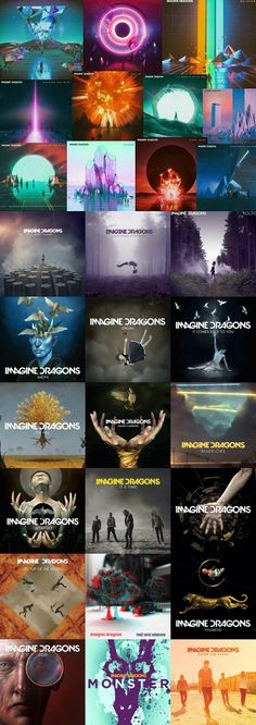 Imagine dragons and their album arts Dan Reynolds, Album Imagine Dragons, Demons Imagine Dragons, Pentatonix, Music Wallpaper, Iphone Wallpaper, Florence Welch, Song Artists, Avicii
