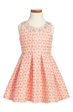 Le Pink 'Hampton' Floral Print Sleeveless Dress (Toddler Girls, Little Girls & Big Girls) available at #Nordstrom