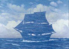 Reproduction de Magritte, Le séducteur. Tableau peint à la main dans nos ateliers. Peinture à l'huile sur toile.