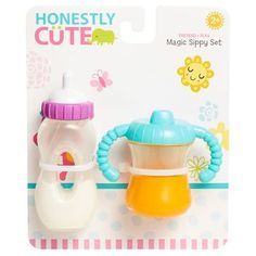 Honestly Cute Magic Sippy Set with Baby Doll Bottle Baby Dolls For Kids, Little Girl Toys, Baby Doll Toys, Cute Baby Dolls, Baby Girl Dolls, Toys For Girls, Muñeca Baby Alive, Baby Alive Dolls, Reborn Baby Girl