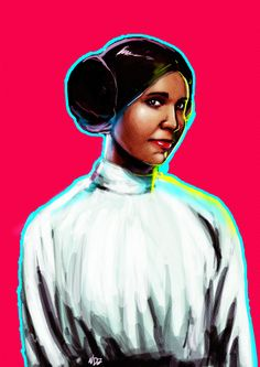 P Carrie Fisher . Been watching Star Wars since I was a kid. You were an amazing actress. May the Force be with you. Star Wars Watch, Carrie Fisher, Disney Characters, Fictional Characters, Actresses, Illustrations, Disney Princess, Artwork, Movie Posters