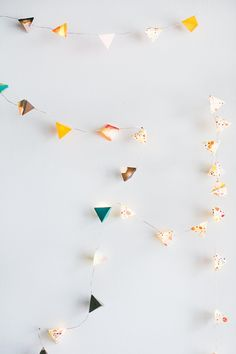 DIY Geometric String Lights - view more http://ruffledblog.com/diy-geometric-string-lights/ photo Emily Chidester