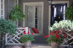 small porch pizzazz, curb appeal, outdoor living, porches, Even a small porch can hold a sweet porch swing Small Front Porches, Decks And Porches, Small Porch Decorating, Porch Styles, Porch Plans, Porch Addition, Porch Makeover, Beach Cottage Decor, House With Porch