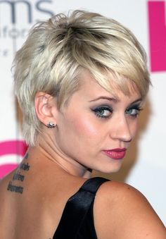 Kimberly Wyatt Short Silver Pixie Hairstyles 2013 | Hairstyles Weekly (NOTE TO SELF: When I do go short, give my long ponytail for wigs--same here! Getting close to summer and the long hair HAS to go!)