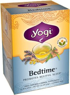 This may be the most amazing tea I've ever smelled! Yogi Tea Bedtime® | Relax, tuck yourself into bed and get a restful night's sleep with a cup of our delicious Bedtime tea. This blend is a soothing combination of herbs traditionally used for centuries to promote relaxation and sleep. Valerian and Organic Chamomile can help calm occasional nervousness and restlessness. Then we add Passionflower, used in Native American blends to helps reduce every day stress to support sleep.