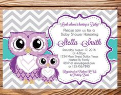 Owls baby shower invitation purple teal and by vividlanedesigns owls baby shower invitation purple teal and by vividlanedesigns filmwisefo