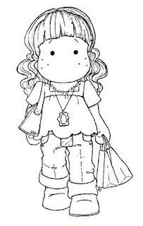 girl with shopping bags Coloring Book Pages, Coloring Sheets, Magnolia Colors, Marker Art, Copics, Digital Stamps, Colorful Pictures, Line Drawing, Clipart