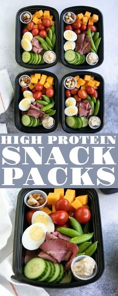 Snack Pack - Lunch Meal Prep High protein snacks perfect for when you're on the go!High protein snacks perfect for when you're on the go! Healthy Protein Snacks, Healthy Meal Prep, Healthy Drinks, Healthy Eating, Healthy Recipes, Keto Recipes, Healthy Food, Protein Packed Snacks, High Protein Meal Prep