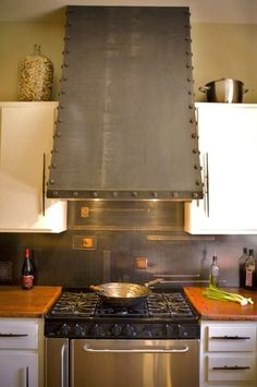 copper counter top, custom hood this is more my style and do it yourself