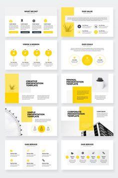 Settings Modern Clean Business Keynote Presentation Template - Keynote - Ideas of Keynote - Coperate Design, Book Design Layout, Slide Design, Web Design Mobile, Web Mobile, Presentation Design Template, Business Powerpoint Presentation, Powerpoint Presentations, Project Presentation