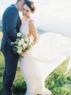 Nature Inspired Elopement on a Mountain Top