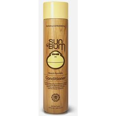 Sun Bum Beach Formula Conditioner (10oz) ($18) ❤ liked on Polyvore featuring beauty products, haircare, hair conditioner and yellow