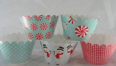 Winter Wonderland Christmas Holiday Cupcake Wrappers for Christmas Party. $10.00, via Etsy.