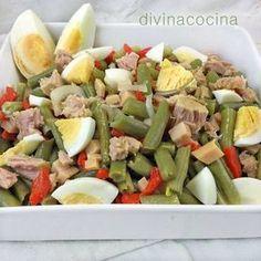 {Garbanzo} Chickpea salad with avocado and tuna fish - Laylita's Recipes Vegetarian Recipes, Cooking Recipes, Healthy Recipes, Comidas Lights, Coliflower Recipes, Deli Food, Salad Recipes, Good Food, Food And Drink