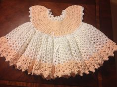 PEACHES AND CREAM peach and white cotton extremely by katievegas1, $75.00
