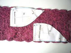 Tuto: soutien-gorge Eloïse | Je fais mes dessous Lingerie Patterns, Sewing Lingerie, Clothing Patterns, Sewing Clothes, Diy Clothes, Lingerie Couture, Diy Bralette, Dress Design Drawing, Crochet Bra