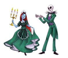 Yes! Love this. Sally and Jack as Haunted Mansion Cast Members by bri-chan
