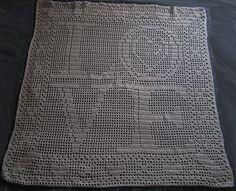 20 Inspiring FREE Filet Crochet Patterns: Love and Kisses Filet Crochet Free Chart