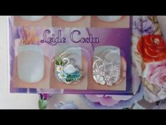 Adesivo de Unha - Passo a passo Flor Branca - YouTube