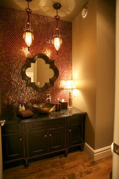 Image detail for -in the powder room your eyes come to rest immediately on the beautiful ...