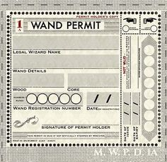 Prior to 1965, MACUSA legislation introduced in the late 19th century made it mandatory for every witch and wizard in the United States of America to carry a wand permit. This measure was taken to keep track of all magical activity and quickly identify any wizards who used their wands in noncompliance of the International Statute of Wizarding Secrecy and Rappaport's Law. Everyone, citizens and visitors, had to carry a wand permit. Failure to do so would result in imprisonment, prosecution...