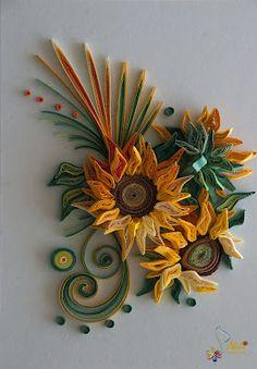 neli: Qulling card - sunflowers 2