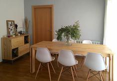 mesa grande de madera para comedor navidad