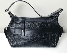 LANCEL Black Patent Leather Handbag