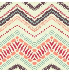 Hand drawn painted seamless pattern vector  by Kannaa on VectorStock®