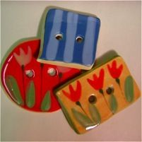 Ceramic buttons (or painted clay)