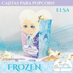 Molde de caja de popcorn Frozen para imprimir