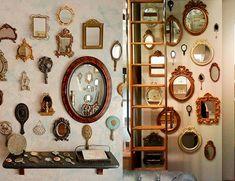 Vintage mirrors decor interior design, interior decorating, steampunk home decor, steampunk house,