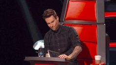 When you're mad about losing someone special, sometimes you throw notebooks. Adam Levine is no exception. #TheVoice