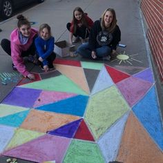 Something to brighten your Monday!  We had special visitors who graced Brown Printing with beautiful sidewalk chalk artwork! Thank you Paige Banta, Kallee and Kenzie Parker. #print #chalkart #chalk #sidewalkart #sidewalkchalk