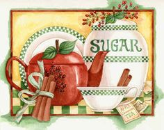 Sugar and Cinnamon image painted by Diane Knott