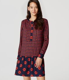 Primary Image of Floral Flounce Dress