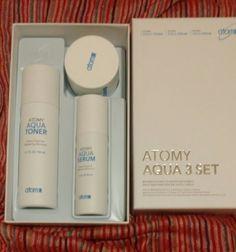 Atomy Aqua 3 Set Toner Moisture Aqua Serum and face Cream Anti Aging Skin Care #Atomy