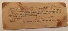 1814 Alstead New Hampshire Property Tax Bill Charles Webster Vintage Paper Old  | eBay