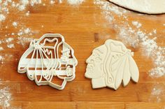 Here's the perfect tool for the next time you want to make Chicago #Blackhawks cookies!
