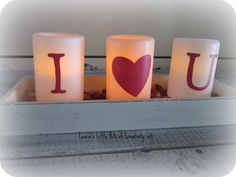 Laurie's Little Bits of Creativity, etc.: I Love You Candles A Dollar Store Craft