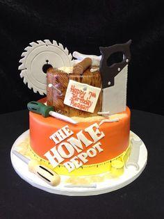 Cookie Jar Bakeshop I Custom Cakes I Birthday Cake I Tool Man Themed Birthday Cake I Adult Male Cake I Construction Themed Cake