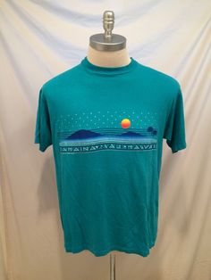 80s Lahaina Maui Hawaii vintage tshirt, by Hanes, Size XL, 100% cotton, Made in USA by CuratedClothing on Etsy https://www.etsy.com/listing/237659292/80s-lahaina-maui-hawaii-vintage-tshirt