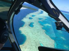 View of the reef from a helicopter ride. Interesting Fact, we only got to see 2% of the Great Barrier Reef .